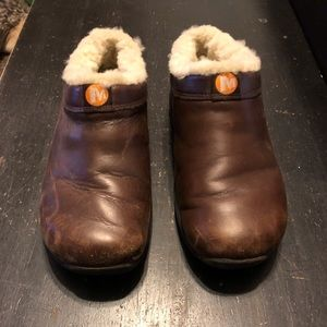 MERRELL  Chill Clog Slide with Fur Size 6.5